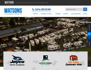 watsonscaravans.com.au screenshot