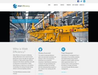 wattefficiency.com.au screenshot