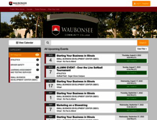 waubonseetickets.universitytickets.com screenshot