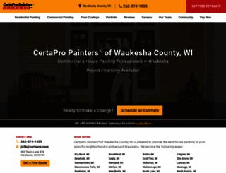 waukesha-county.certapro.com screenshot