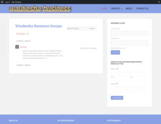 waukeshabusiness.com screenshot