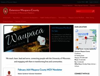 waupaca.uwex.edu screenshot