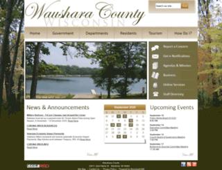 waushara.municipalcms.com screenshot