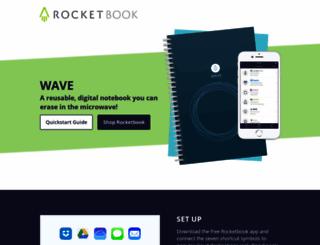 wave.getrocketbook.com screenshot
