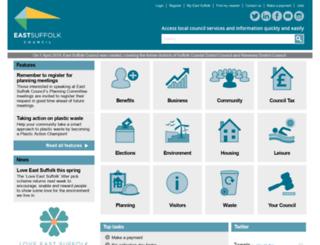 waveney.gov.uk screenshot