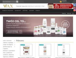wax-sklep.pl screenshot
