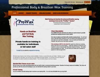 waxtraining.com screenshot