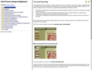 way.clicktracks.com screenshot