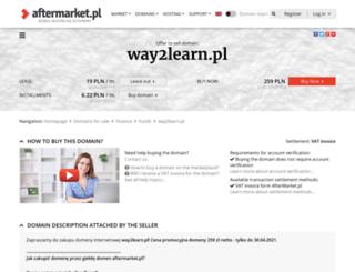 way2learn.pl screenshot