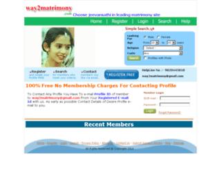 way2matrimony.com screenshot