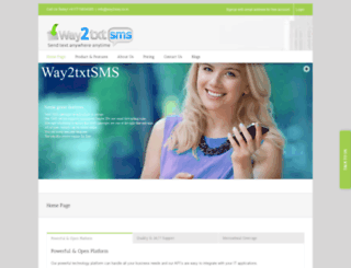 way2txtsms.com screenshot