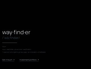 wayfinder.com screenshot