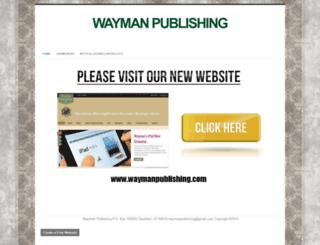 waymanpublishing.webs.com screenshot