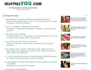 wayne-dyer.inspiresyou.com screenshot
