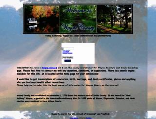 wayne.lostsoulsgenealogy.com screenshot
