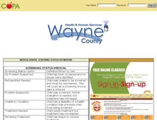 waynecounty.mycopa.com screenshot