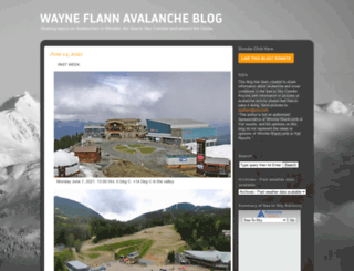 wayneflannavalancheblog.com screenshot