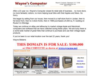 waynes.com screenshot