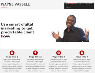 waynevassell.com screenshot