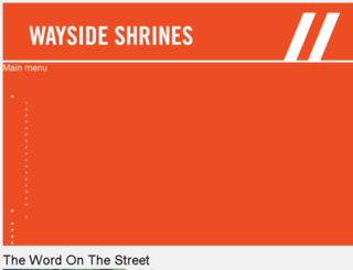 waysideshrines.org screenshot