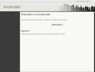 waywardrp.wikifoundry.com screenshot