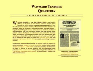waywardtendrils.com screenshot