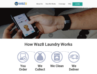 waz8laundry.com screenshot