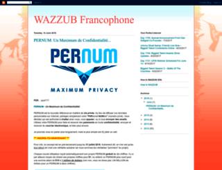wazzubfrancophone.blogspot.be screenshot