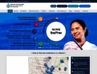 wbhed.gov.in screenshot