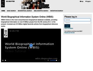 wbis.degruyter.com screenshot