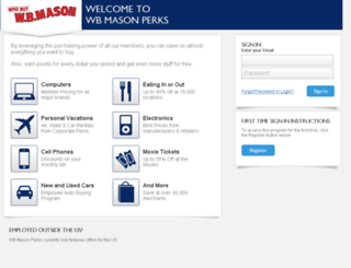 wbmason.corporateperks.com screenshot