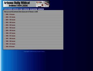wc.arizona.edu screenshot