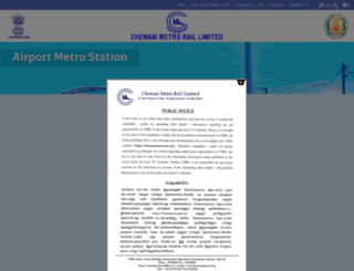 wcag.chennaimetrorail.org screenshot