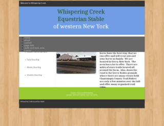 wcequestrianstables.webstarts.com screenshot