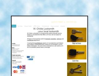 wchildslocksmiths.co.uk screenshot