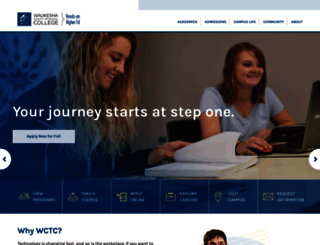 wctc.edu screenshot