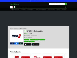 wdr2ruhrgebiet.radio.de screenshot