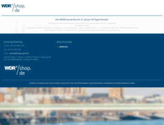 wdrshop.de screenshot