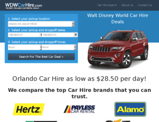 wdwcarhire.com screenshot