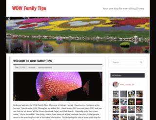 wdwfamilytips.com screenshot