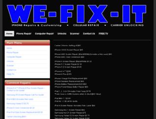 we-fix-it.ca screenshot