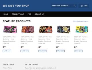 we-give-you-shop.myshopify.com screenshot