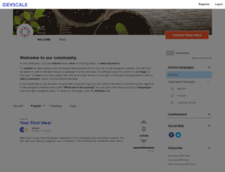 we.ideascale.com screenshot