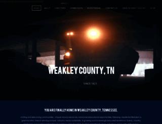 weakleycountytn.gov screenshot