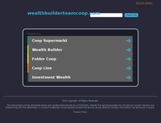wealthbuilderteamcoop.com screenshot