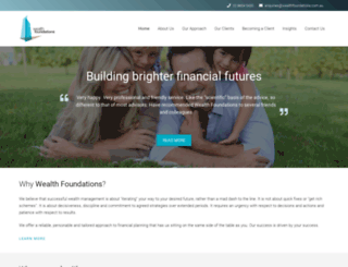 wealthfoundations.com.au screenshot