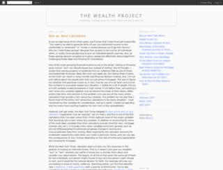 wealthproject.blogspot.se screenshot
