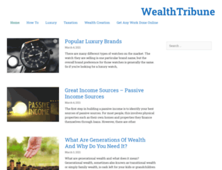 wealthtribune.com screenshot