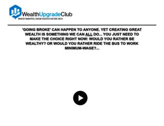 wealthupgradeclub.com screenshot