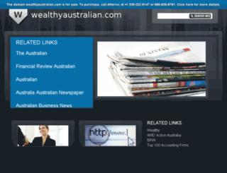 wealthyaustralian.com screenshot